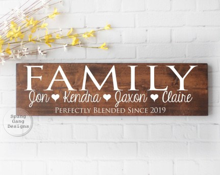 Perfectly Blended Family Sign