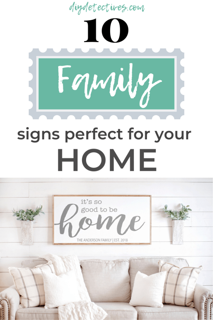 10 Family Signs Perfect for Your Home Decor