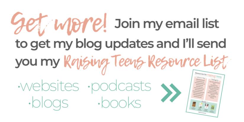 Raising a Teenager Resource List