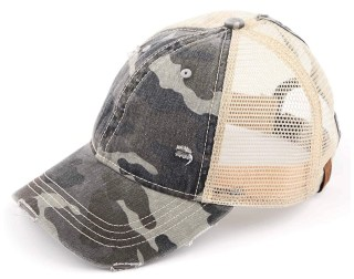 Mom hat in Camo with beige
