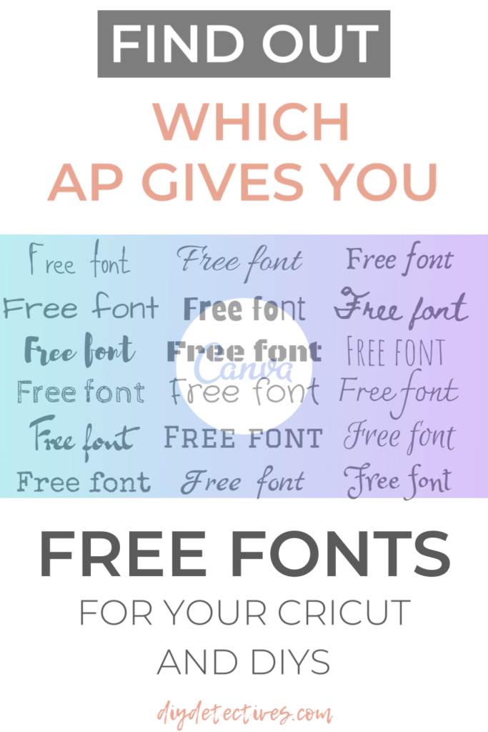 Find Out Which Ap Gives You Free Fonts to Use For Cricut