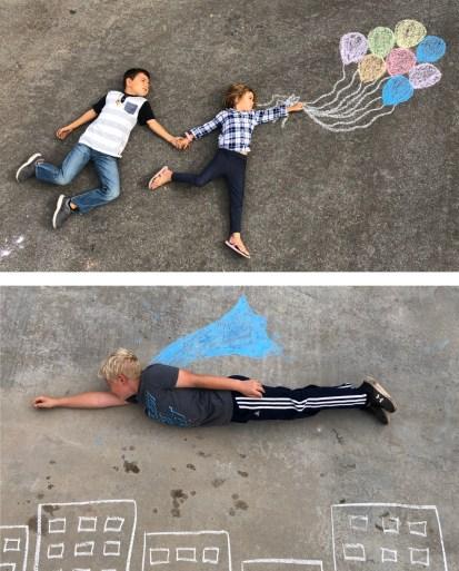 Brain Breaks:  Chalk pictures