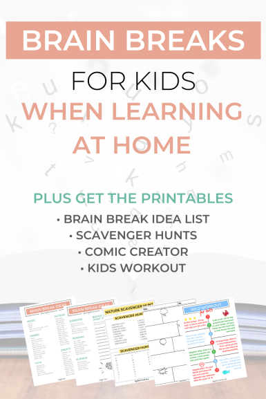 Brain Breaks for Kids When Learning at Home