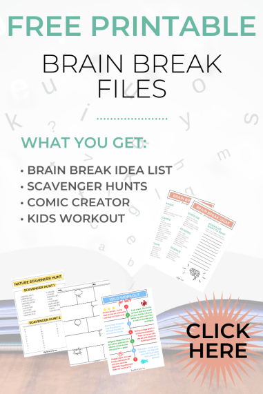 Free Brain Break Printable File