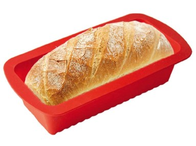 Silicone loaf pan for bread recipes