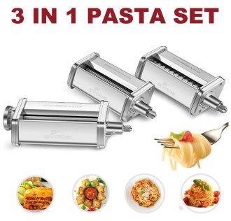Pasta cutter set for KitchenAid mixer