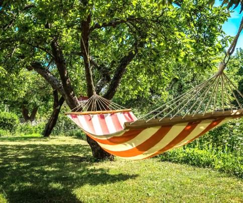 DIY Outdoor projects: add a hammock.
