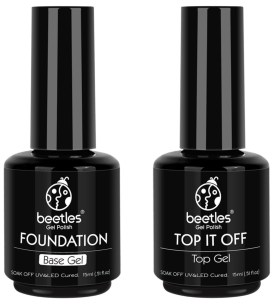 Base and top coat for gel manicures at home