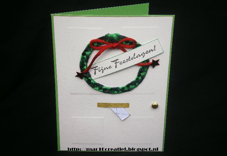 deurkaart kerstkrans diydiva
