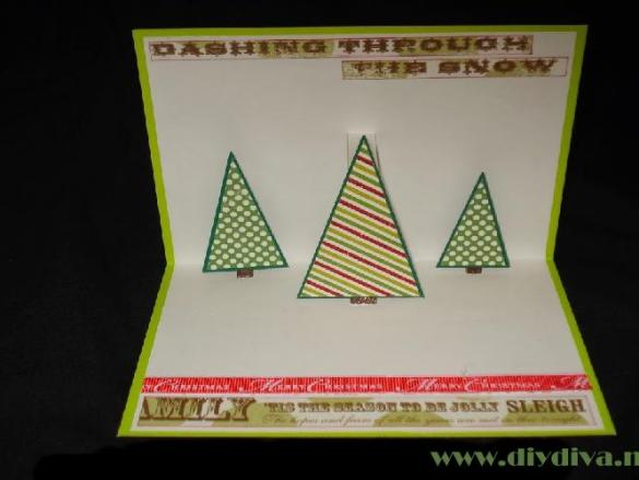 Pop up kaart kerstboom tutorial