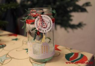 windlicht kerstmis glazen pot diydiva