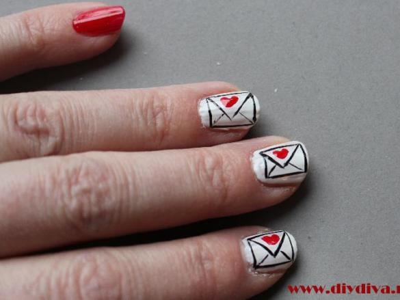 Nail art voor Valentijnsdag