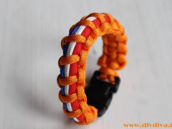 Koningsdag armband van paracord
