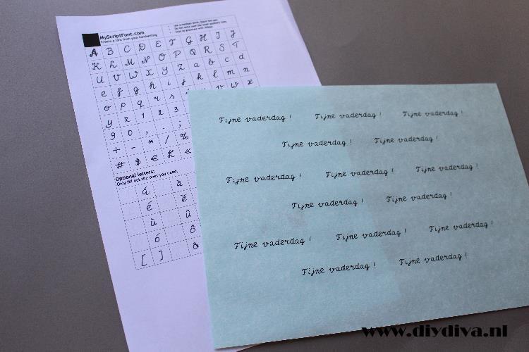 handschrift als lettertype diydiva