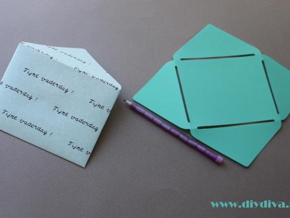 Persoonlijke envelop maken voor vaderdag