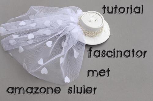 fascinator met bruidssluier maken diydiva