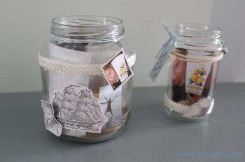glazen pot decoratie diydiva