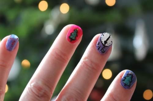 nailart diydiva kerstnagels nagellak kerstmis
