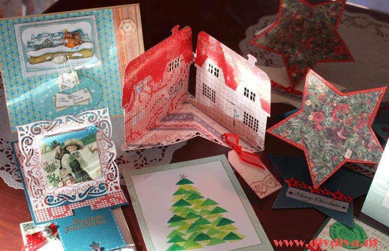 zelfgemaakte kerstkaarten idee diydiva
