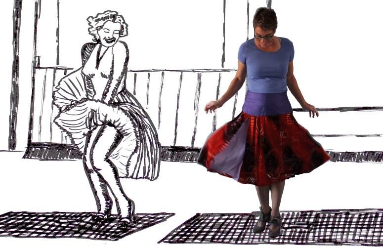 Marilyn and me naaiblog diydiva zelfgemaakte rok naaien