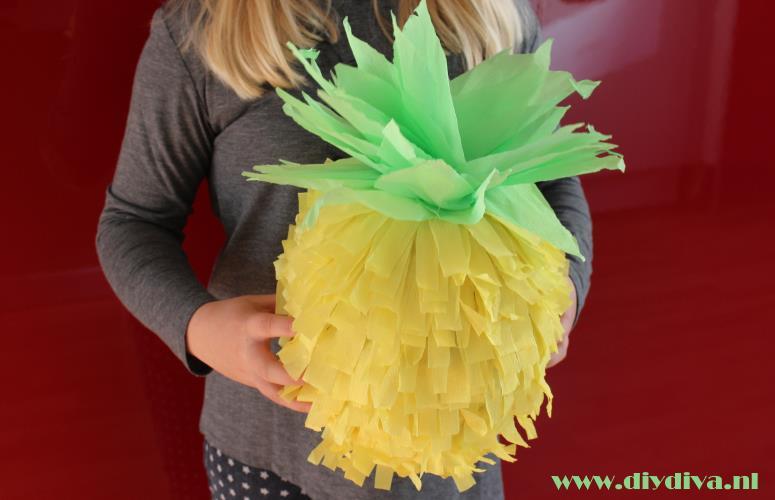 ananas pinata zelf maken diydiva