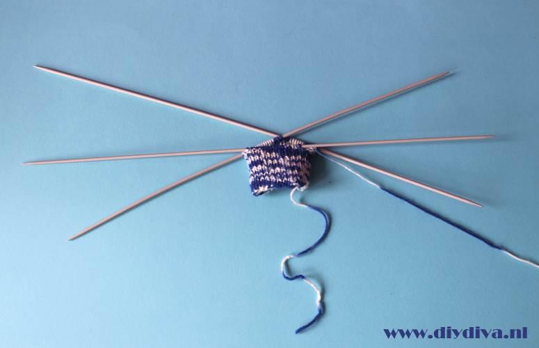 sokken leren breien boord opzetten diydiva
