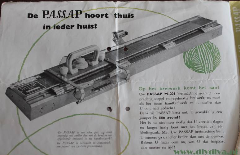 passap m201 knittingmachine diydiva