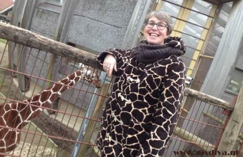 houtje touwtje jas giraffenprint diydiva
