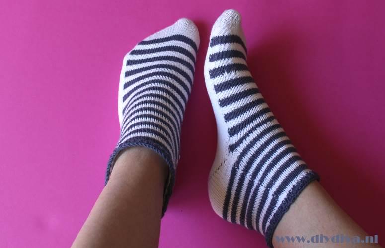 marine sokken breien diydiva