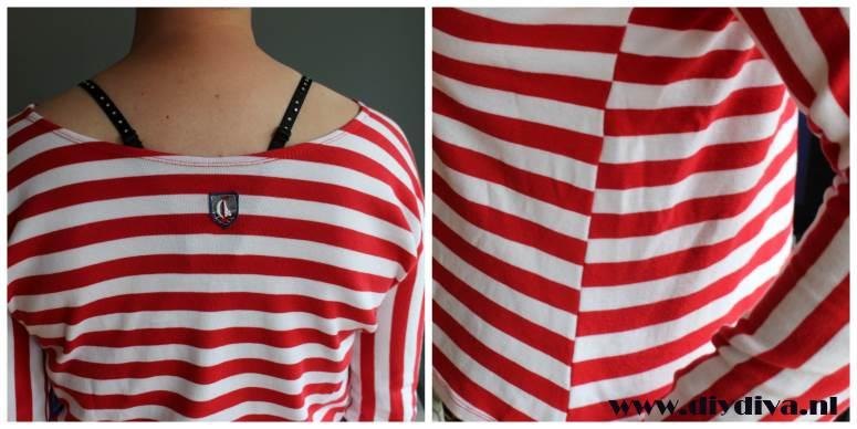 roodwit Pieke uit een stuk shirt diydiva