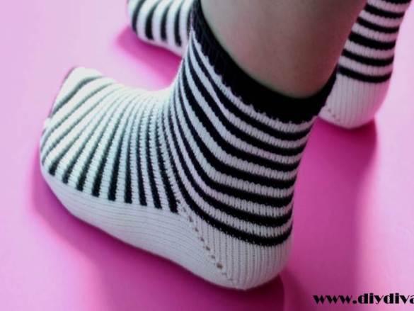 Zwartwit sokken