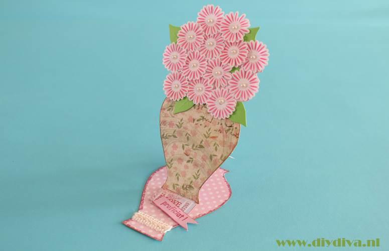 bloemenkaart maken diydiva
