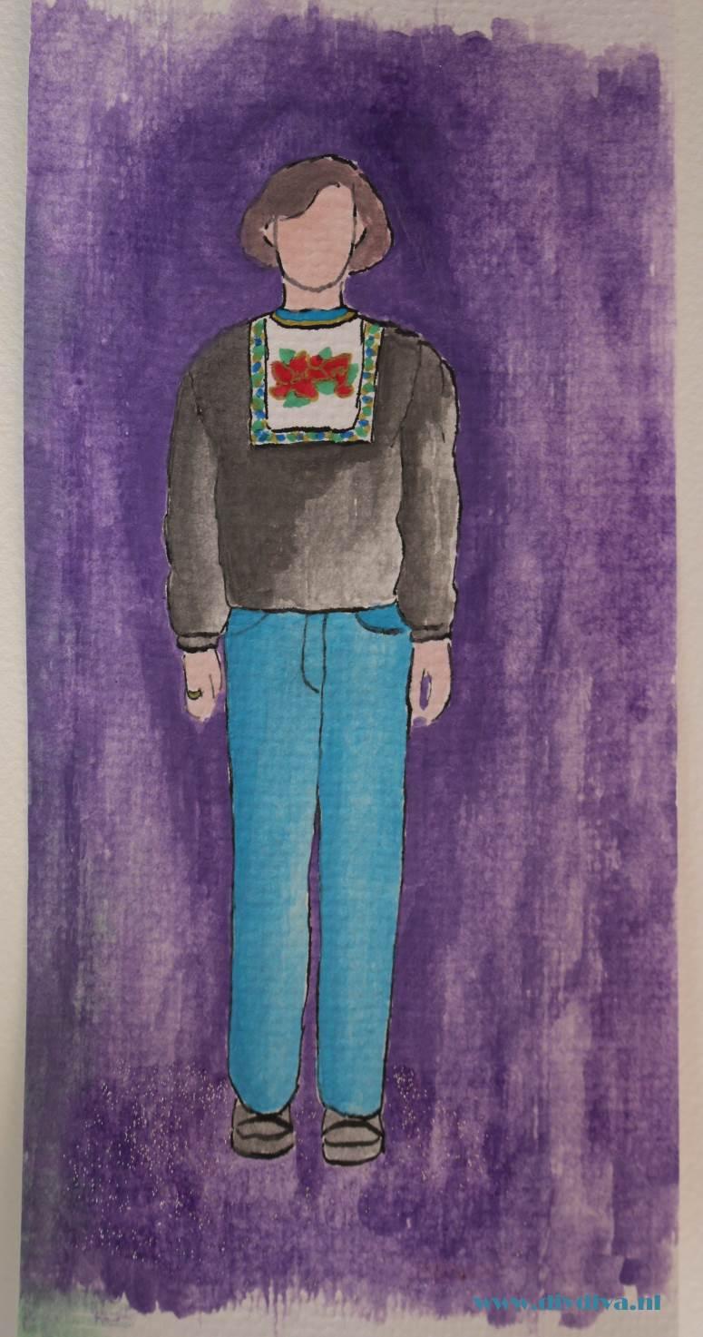 waterverf volendam sweater diydiva