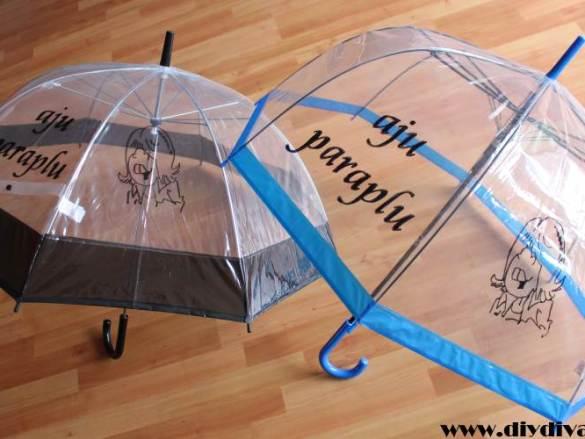 Aju parapluutje voor de meester en juf
