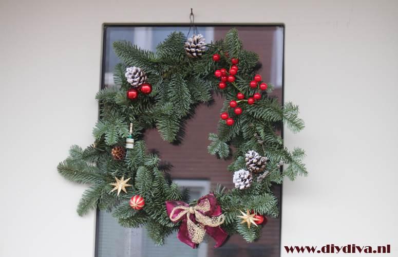 kerstkrans zelf maken diydiva
