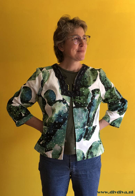 zelf kleding naaien cactus jasje diydiva