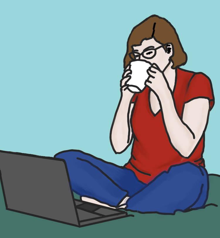 ik met laptop