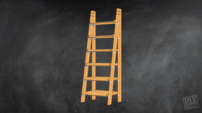 Leaning Ladder Bookshelf Diy Done Right