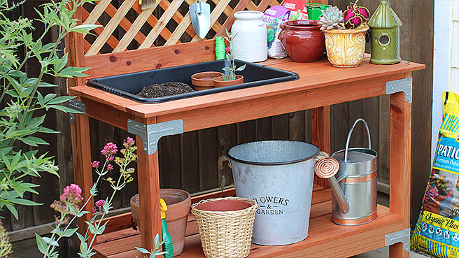 Outdoor Potting Bench DIY Done Right