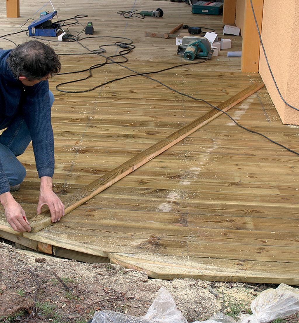 reussir les arrondis d une terrasse en