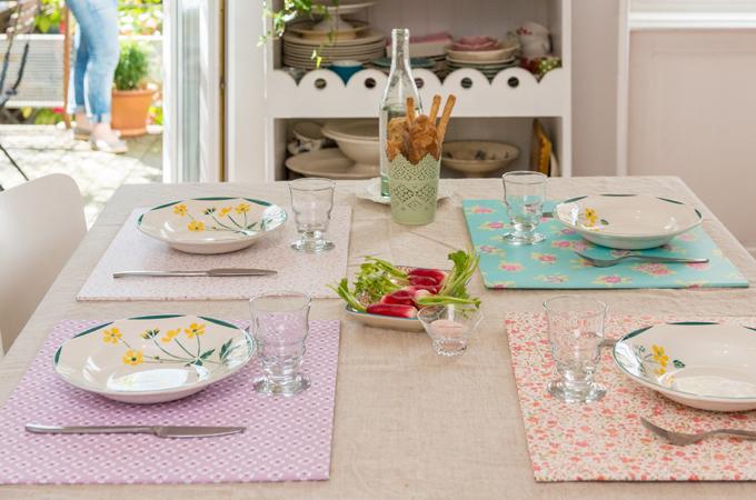 Fabriquer Des Sets De Table Avec Des Chutes De Papier Peint Diy Family