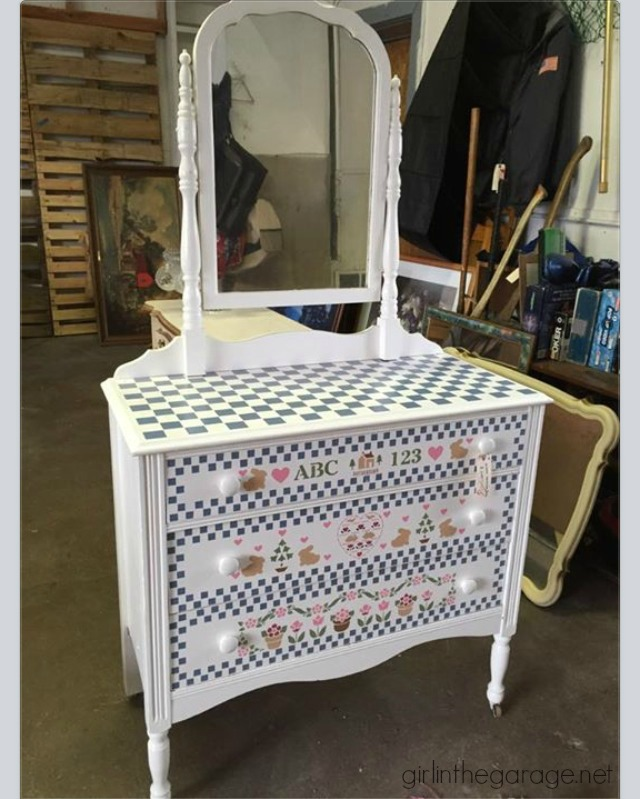 (Before) Nailhead Dresser Makeover - by Girl in the Garage