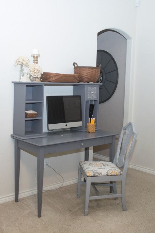 Desk makeover and updated chair - by Major Hoff Takes a Wife