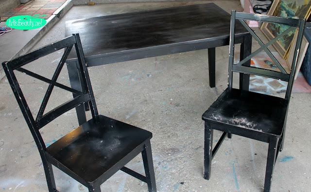 (Before) Meant for Mint - Dining Set Makeover - by Art is Beauty