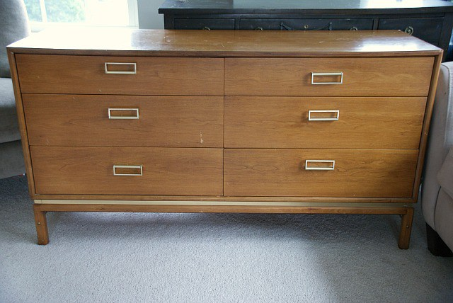 (Before) A Whale Tale - Dresser Makeover - by Canary Street Crafts