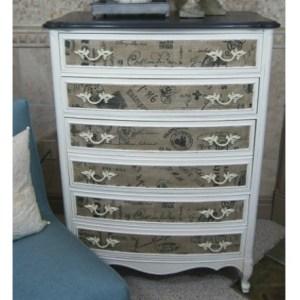 French Fabric Dresser