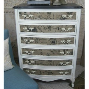 French Fabric Dresser