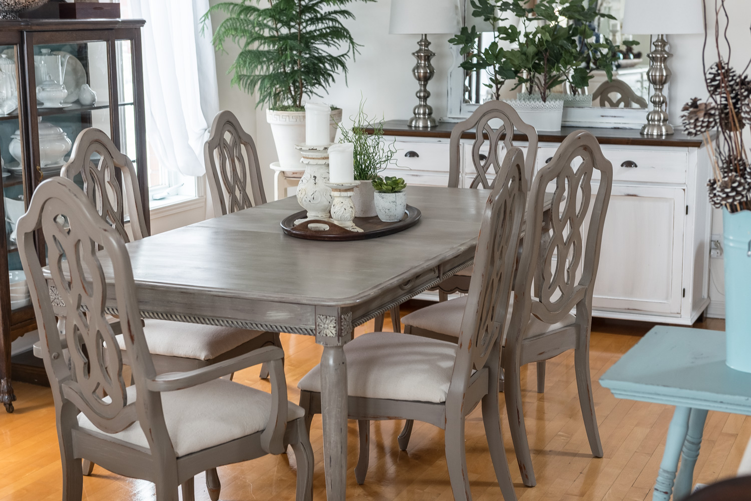 Dining Set Makeover - by Orphans with Makeup