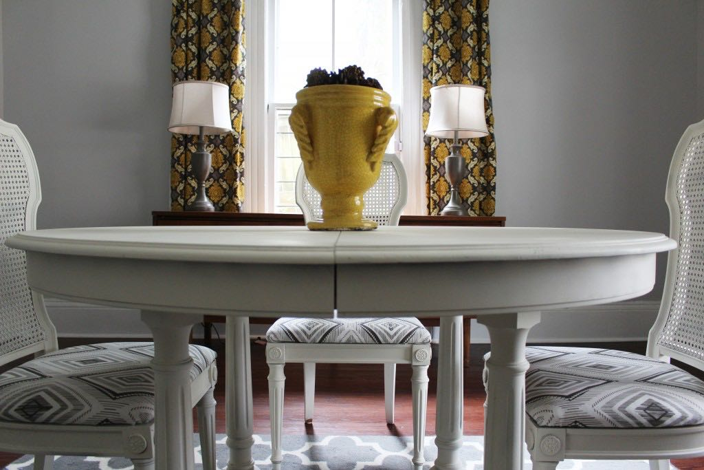 Ikat Dining Set Makeover - by 2 Bees in a Pod