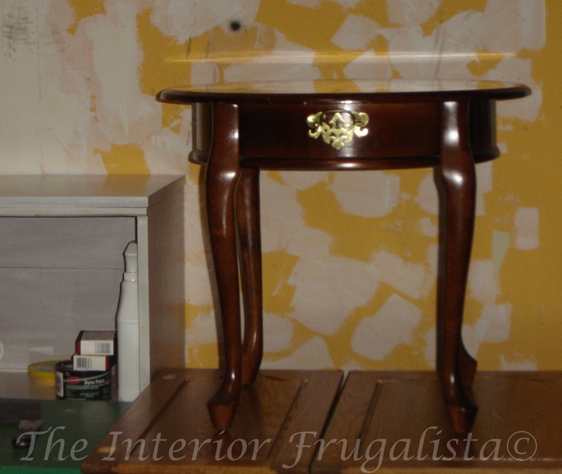 (Before) Third Time's a Charm - Table Makeover - by The Interior Frugalista